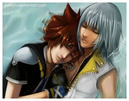 Sora and Riku by Lokklyn