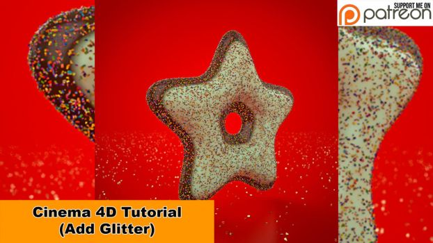 Add Glitter (Cinema 4D - Tutorial) by NIKOMEDIA