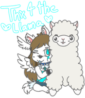 Thx for the llama (smol) by Angelceleste