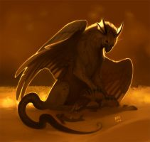Egyptian Gryphon by madnessdemon