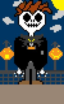 Jack Skeleton son in 8 bit by cuddlederpy