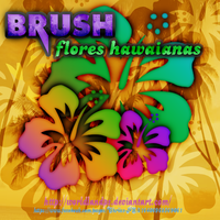 Brush Flores hawaianas. by worldlandPS