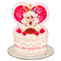 Birthday Cake by Vocaloid-Mirai