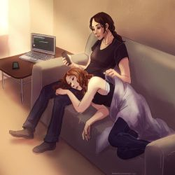 Person of Interest - Root and Shaw nap time by Maarika