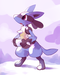 Lucario Painting by HappyCrumble