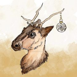 Reindeer Colour Clipart by GirlinDesign