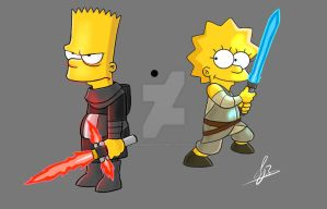 Simpsons Star Wars by ZwannMustapah