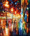 The Tempo Of The Rain by Leonid Afremov#abstract #