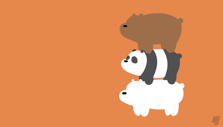 Minimalist Wallpaper - We Bare Bears by AnfoFlash