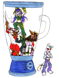 Furries in a Blender by Oddwarg
