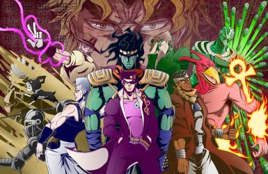 Jojo's Bizarre Adventure - Stardust Crusaders by kentaropjj