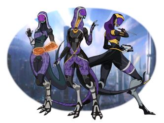 Tali lizards x3 by spaceMAXmarine