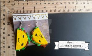 Taco Earrings by TheTrueGypsyQueen