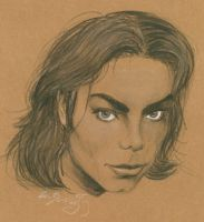 Michael Jackson portrait by lizardbeth