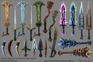 Weapon Relics final icons - MagiQuest 3.0 by Ruthac-Arus