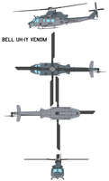 Bell UH-1Y Venom by bagera3005