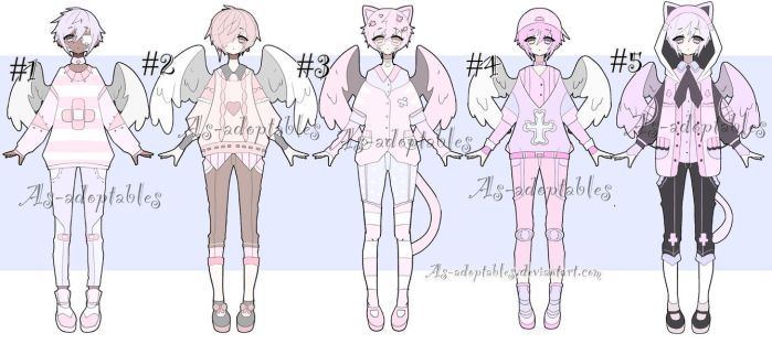 angel adoptable batch open by AS-Adoptables