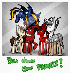 Commission (Pt.2): But You Can Choose Your FAMILY! by AnimeAngel120