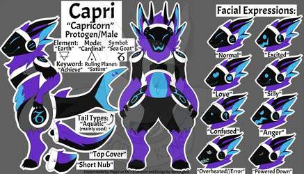 Capricorn the Protogen by lucifercoart