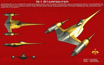Naboo N-1 Starfighter ortho [New] by unusualsuspex