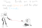 2 Birds On A Wire by TropicaIDeer