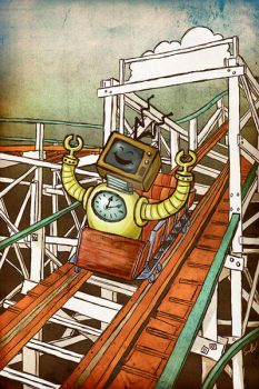 Roller Coaster Robot by moonie