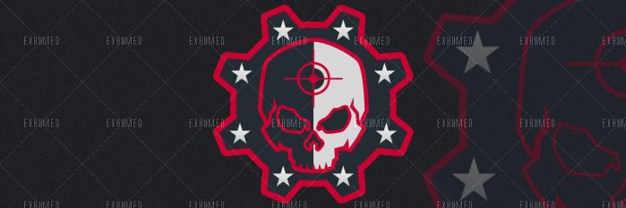 Twitter header Skull red by 3xhumed