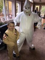 Rowan and a junior Ghostbuster. by Ghostbustersmaniac