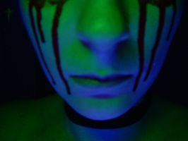 Blood + Blacklight by evilpokejuggalette