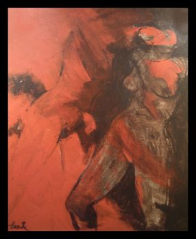woman with red by handera