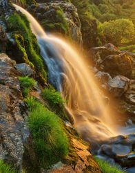 Glowing Loup of Fintry Waterfall by somadjinn