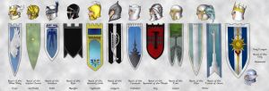 The Twelve Gondolin Houses by shyangell