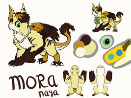 Wyngro - Mora Ref Sheet by Anhrak