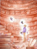boy Alice in wander library 4 by jurithedreamer