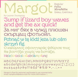 Margot Font Specimen #4 by nymphont