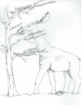 Long-necked Moose (Indricotherium) by apeman505