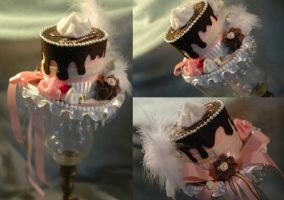 Chocolate Drips Mini Top Hat by NoFlutter