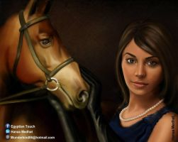 the woman with the horse by HMart