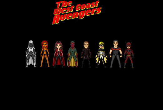 West Coast Avengers by Jalil1m