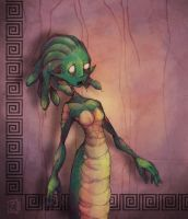 Medusa the Grotesque by ZestyDoesThings