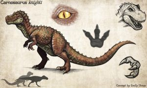 Carnosaurus Concept Commission by EmilyStepp