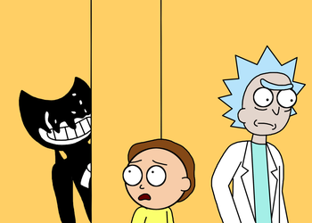 Rick and Bendy by BluSilvrPaladin