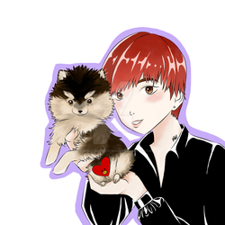 Taehyung and Yeontan by troublesomericecakes