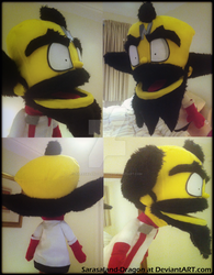 Commission: Hand Puppet Dr. Cortex by Sarasaland-Dragon
