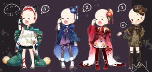 [CLOSED] Adoptable: Outfits 15 by ZylenXia