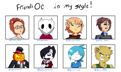 Draw your Friend's OC's in your style by MrBda241