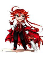 Pixel Grell [ANIMATION] by hunnyclover