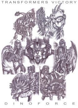 Transformers Victory Dinoforce by Robot1979