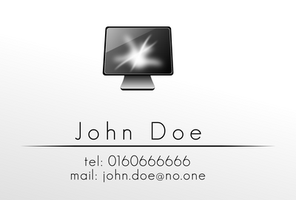 John Doe business card v2 by JonathanMH