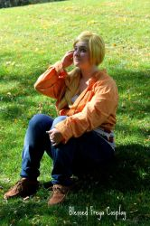 Just sitting in the feild by Blessedfreyacosplay